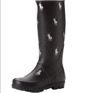 Boy's Polo Ralph Lauren Repeat Pony Rain Boots